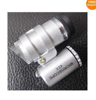 Wholesale Jeweller MINI LED Magnifier Pocket Loupe x Microscope