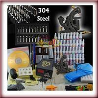 Wholesale 1 Top Machine Gun Power Needle Steel Tips Ink Tattoo Kit Beginner Use