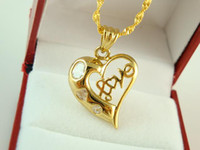 Wholesale Hotting sale Brass jewelry K mm Saucy Heart charms necklace fit Lovers Nice Christmas gift