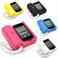 Wholesale Retro telephone landline Change base POP Mobile phone holder Landline Handsfree for iPhone G G