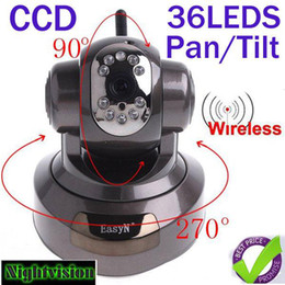 Wholesale Aluminium alloy EasyN Wireless IR WiFi CCD IP Camera Alarm Monitor with LEDs and nightvision HS