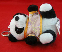 Wholesale Best Plush Key Chains Key Keychain Key Ring Chinese Panda Promotion Gift Key chain Free