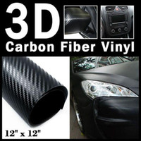 Wholesale 3D di Noc Decal Carbon Fiber Vinyl Sticker Black mm x mm