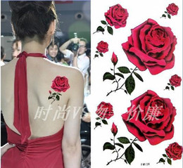 Wholesale Temporary Tattoos Fashion Waterproof Rose Tattoo Sticker Body Painting Cheap Tattoo art Sticker