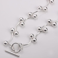 Wholesale Retail lowest price Christmas gift new silver fashion Necklace N136