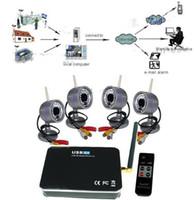 Wholesale 2 GHz Wireless Receiver Weatherproof Outdoor indoor IR Wireless Camera CCTV USB Home Security DV