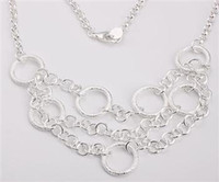 Wholesale Retail lowest price Christmas gift new silver fashion Necklace N161