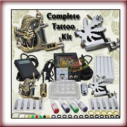 2 Machine Gun Power Ink Set Beginner Use Complete Tattoo Kit