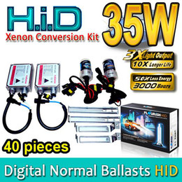 Discount wholesale hid 40 SETS HID Xenon Conversion Kits H1 H3 H4 H7 H8 H9 H11 H13 HB1 HB3 HB4 HB5 9004 9005 9006 9007 Genuine AC Normal Ballasts 35W High Quality