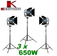 Wholesale Continous Lighting Kit Video Studio Fresnel Spotlight Tungsten Light x W m Light Stands Bag