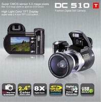 Wholesale DC510T DC510 inch TFT MP x Digital Camera Video Camcorder DC500T upgrade to DC510T Christmas
