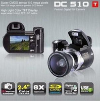 Wholesale Digital Camera DC510T LCD MP X Digital Zoom Wide Angle Lens DC500T Upgrade Edition