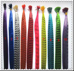 Wholesale Fashion Inch Long Synthetic Grizzly Rooster Feather Hair Extension Feathers Extensions s