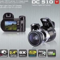 Wholesale 12MP digital camera X Digital Zoom Wide angle lens inch LCD DC500T upgrade to DC510T v2