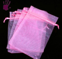 Wholesale x12cm new Pink Organza Jewelry Gift Bags Box HOT Sale Fashion