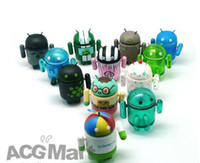 Wholesale Google Android ND Robot Toy Mini Collectible Series Fashion Scrawl Design Robot in set XMAS