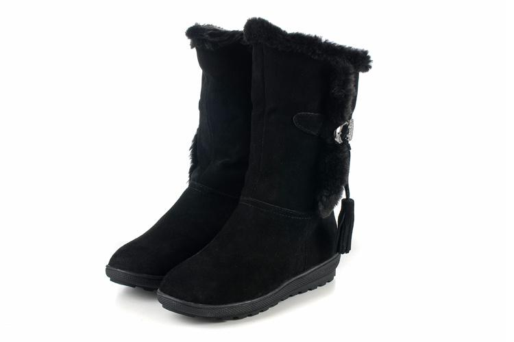 Black Snow Boots For Women - Cr Boot