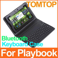 Wholesale Good quality leather case with Bluetooth Keyboard for inch blackberry playbook Tablet pc C1258