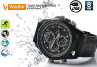 Wholesale new USB Watch GB Flash Memory Timepiece Sports Spy Camera Watch With GB Memory