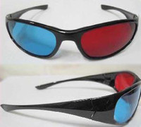 Wholesale Red magenta Blue Anaglyph D GLASSES plastic frame stereo glasses Spherical lens for r b movie
