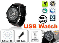 Wholesale DHL Sports Spy Camera Watch With GB Memory USB Watch GB Flash Memory Timepiece