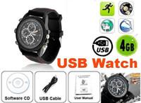 Спорт шпионская камера Часы с 4 Гб памяти - USB смотреть -10pcs / серия