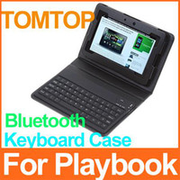 Wholesale DHL EMS good leather case for playbook quot inch Tablet pc with Bluetooth Keyboard C1258