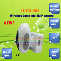 Wholesale Free Shippping WiFi IR Night Vision m Two way audio Wireless IP Camera Security Cameras for Home