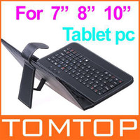 Wholesale Best Price usb keyboard Leather case bracket for quot quot quot inch Tablet pc zt via x220 epad C1391 C1250 C1581