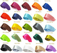 Wholesale mix solid colors mens ties new neckties plain cm width
