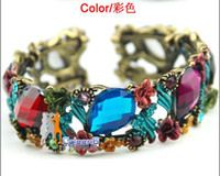 Wholesale rolly vintage colorful jewelry bracelet hollow design fahsion lady bangle XL61125