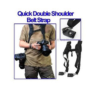Wholesale Double Rapid Shooting Camera Sling Black Dual Strap Belt Strap for two Camera