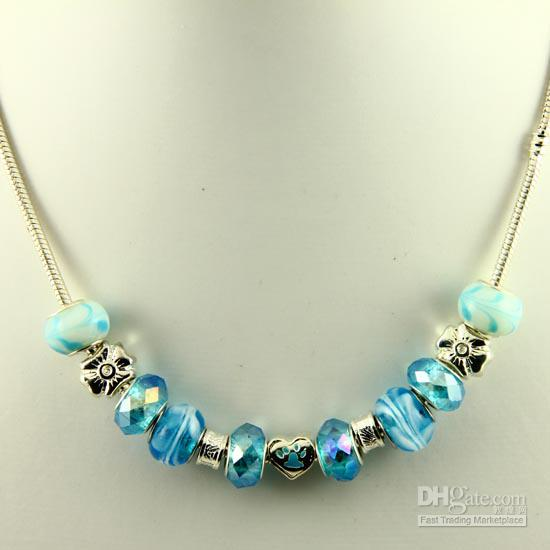 2017 Nice Chamilia Charms Necklaces With Large Hole Murano ...