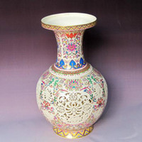 Wholesale porcelian flower vase Jingdezhen flower porcelain vase china with collection value