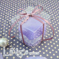 Wholesale Free DHL shipping ps cm cm cm Clear Wedding Party Favour Truffle Box Gift candy box