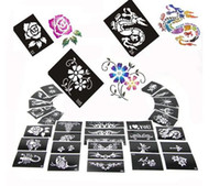 Wholesale New tattoo Stencils for Body art Painting sheets mixed designs
