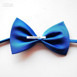 Wholesale 2011 Custom Made Cheap Solid Color Bowties Boy s Bow Tie Satin Factory Sale Guarantee