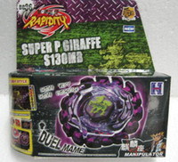 Wholesale Hot Brand New Super Top Clash Metal Beyblade Spinning Tops Toys with ruler starter carton