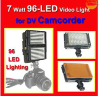 Wholesale HDV Z96 LED Video Light for DV Camcorder Lighting DV LED light DV lamp Camcorder Lighting Diffuser