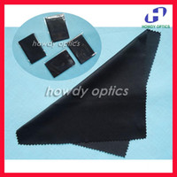 Wholesale black microfiber cleaning cloth mm every cloth packed with a bag