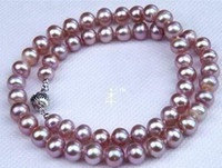 Wholesale fine pearl jewelry mm south sea purple pearls necklace inches silver