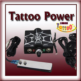 Wholesale LED Powerful Tattoo Power Supply Stainless Steel Foot Pedal Footswitch Clipcord For Tattoo Machine G