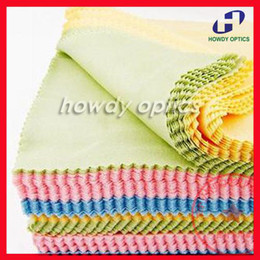 Wholesale Hot Selling Colorful microfiber eyeglasses cleaning cloth x14cm eyewear glasses lens cleaning cloth colors