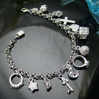Wholesale Retail lowest price Christmas gift silver Bracelet bangle B082