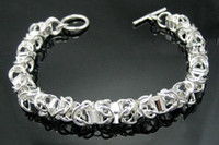Wholesale Retail lowest price Christmas gift silver Bracelet bangle B084