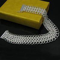 Wholesale Retail lowest price Christmas gift silver Bracelet Large centipede bangle B092