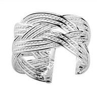 Wholesale Retail lowest price Christmas gift new silver fashion Ring R24