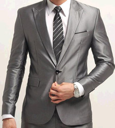 Wholesale hot men s suits dress suits pants sets one button colors man s suit