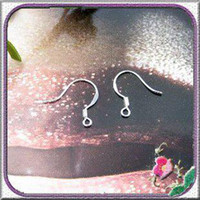 Wholesale Sterling Silver Earring Fish Hook earrings Accessories DIY jewelry