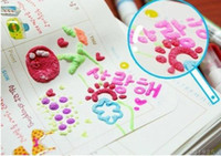 puffy paint - 30pcs Korean Popcorn Decoration Bubble Magic Art Printing Paint Embellish Puffy Marke rMarking Pens